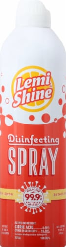 Lemi Shine Multi-Purpose Disinfecting Aerosol Lemon Spray Perspective: front