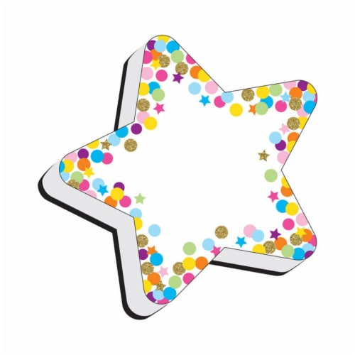Magnetic Whiteboard Eraser, Star Confetti Perspective: front