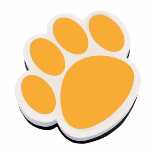 Magnetic Whiteboard Eraser, Gold Paw Perspective: front