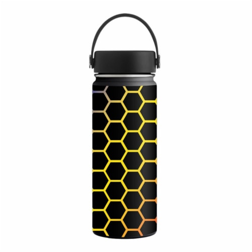 MightySkins HFWI18-Primary Honeycomb Skin for Hydro Flask 18 oz Wide Mouth - Primary Honeycom Perspective: front