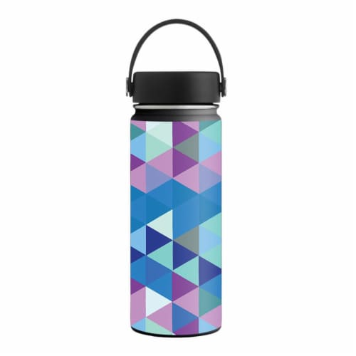 MightySkins HFWI18-Purple Kaleidoscope Skin for Hydro Flask 18 oz Wide Mouth - Purple Kaleido Perspective: front