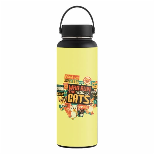 MightySkins HFWI40-Cats Run The World Skin for Hydro Flask 40 oz Wide Mouth - Cats Run the Wo Perspective: front