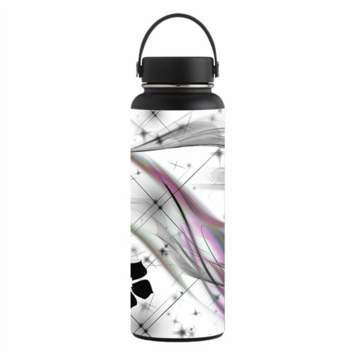 MightySkins HFWI40-Gray World Skin for Hydro Flask 40 oz Wide Mouth - Gray World Perspective: front