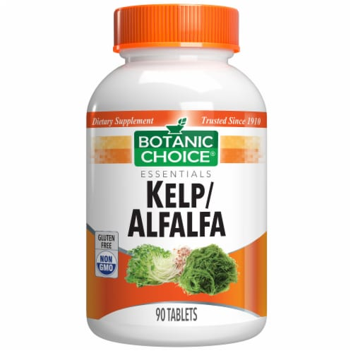 Botanic Choice  Kelp/Alfalfa Green Foods Herbal Supplement Perspective: front