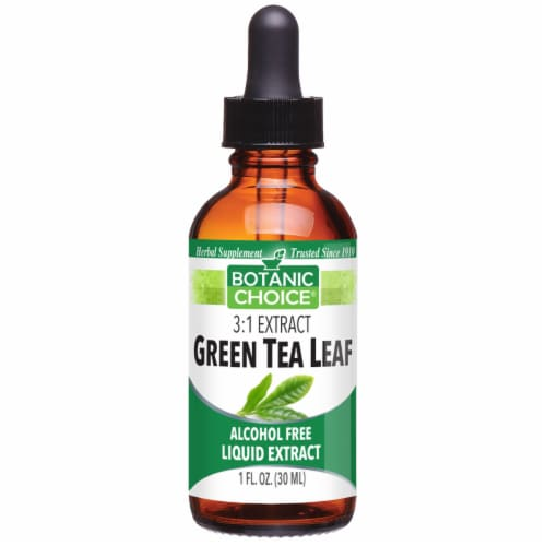 Botanic Choice  Green Tea Leaf Liquid Extract Perspective: front
