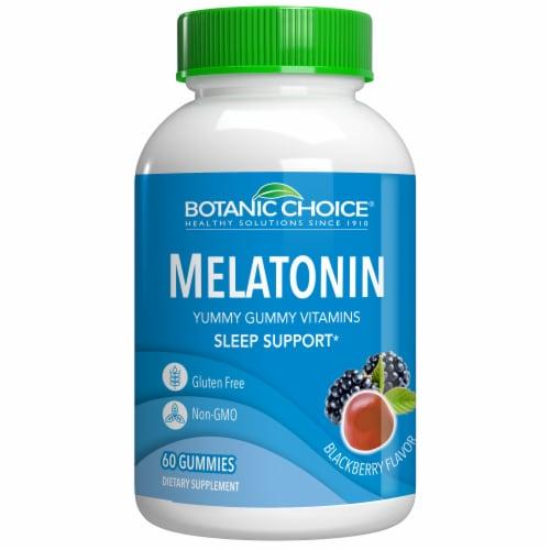 Botanic Choice  Melatonin Gummy Sleep Dietary Supplement Perspective: front