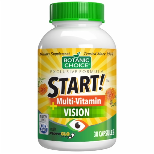Botanic Choice  START! Multi-Vitamin + Vision Dietary Supplement Perspective: front