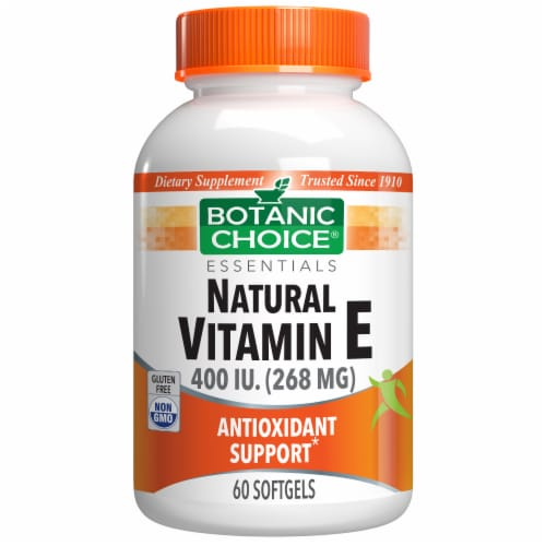Botanic Choice  Vitamin E Natural (D-Alpha) Dietary Supplement Perspective: front