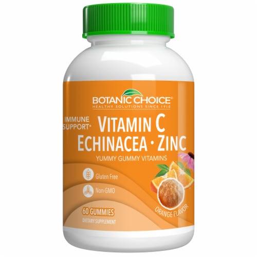 Botanic Choice  Vitamin C, Echinacea, Zinc Gummy Immune Support Dietary Supplement Perspective: front
