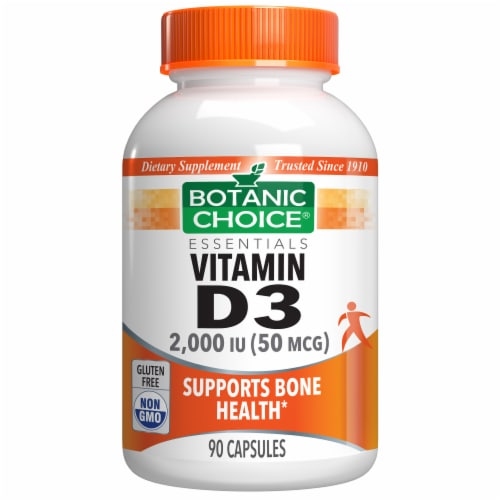 Botanic Choice  Vitamin D3 - 2000 IU Dietary Supplement Perspective: front
