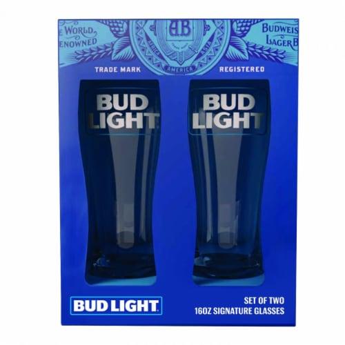 Bud Light 811466 Bud Light Signature Glassware Set - 2 Piece Perspective: front