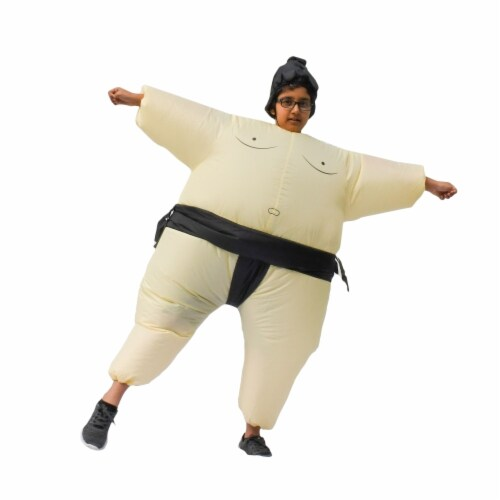 ALEKO ICP08-UNB Halloween Inflatable Party Costume - Sumo Wrestler - Child Sized Perspective: front