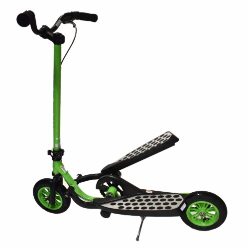 Aleko Z100GR-UNB Fly Range Motion Portable Scooter Stepper Bike for Youth - Green Perspective: front