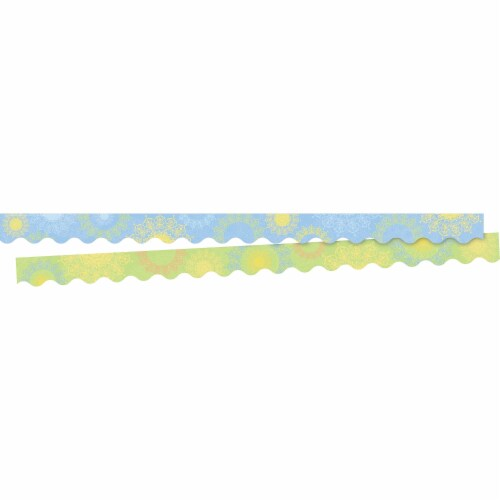Barker Creek 2006072 2.25 x 36 in. Mindfulness Sunset Scalloped Double Sided Trimmer - 13 Str Perspective: front