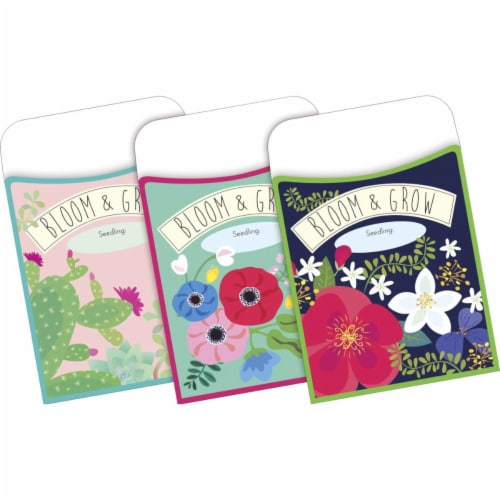 Peel & Stick - Petals & Prickles Library Pockets, 3 1/2  x 5 1/8 , Pack of 30 Perspective: front