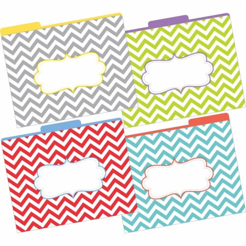 File Folders, Letter-Size, The Beautiful Chevron, Pack of 12 Perspective: front