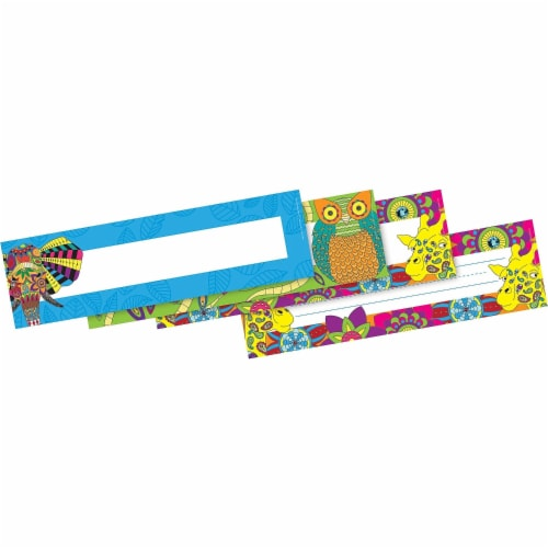 Barker Creek 2004968 12 x 3.5 in. Bohemian Animals Name Plates - Set of 36 Perspective: front
