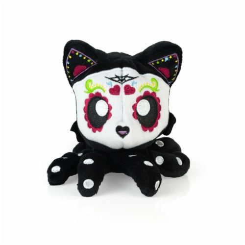 Tentacle Kitty 4-inch Little Ones Plush - Day Of The Dead Sugar Skull Design Perspective: front
