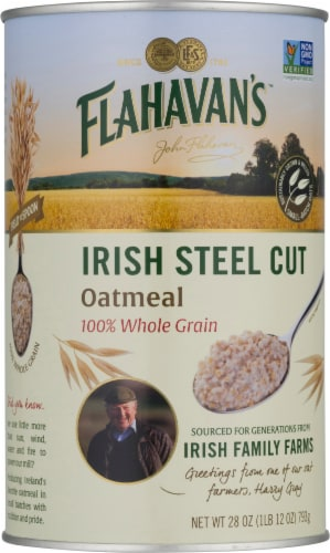 Flahavans Irish Steel Cut Oatmeal Perspective: front