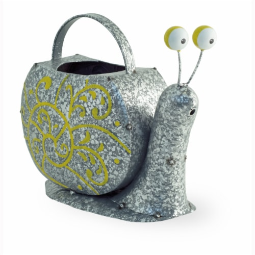 Boston International Snail Watering Can Outdoor Decor - Silver Perspective: front