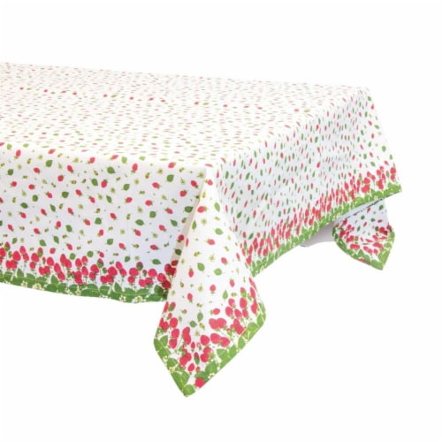 Boston International URB19137 52 x 52 in. Strawberry Season Table Cloth Perspective: front
