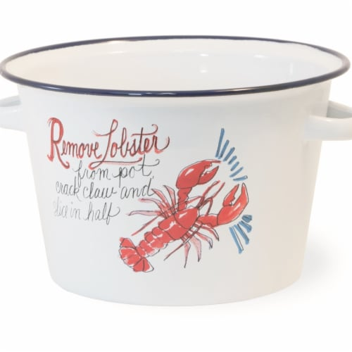 Boston International 16 Cup Lobster Bake Metal Pot Perspective: front