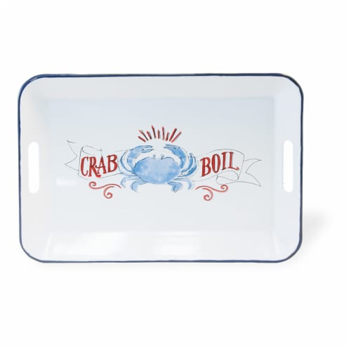 Boston International Crab Boil Metal Tray Perspective: front