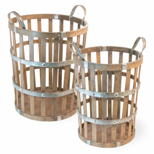 Boston International Bamboo Baskets Perspective: front