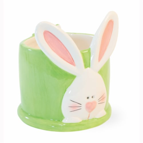 Boston International Bunny Candy Dish - Green Perspective: front