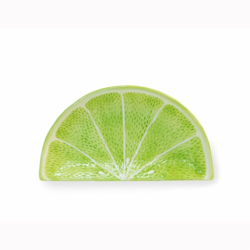 Boston International Lime Wedge Plate - Green Perspective: front