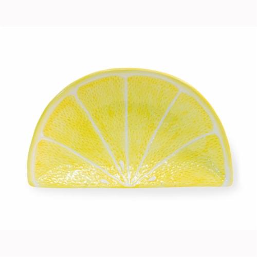 Boston International Lemon Wedge Plate - Yellow Perspective: front
