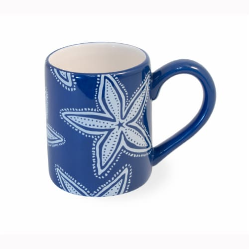 Boston International Starfish Mug - Blue Perspective: front