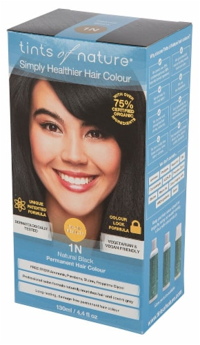 Tints of Nature  Permanent Hair Colour 1N Natural Black Perspective: front