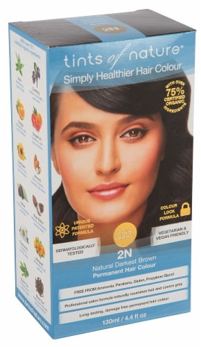 Tints of Nature Permanent Hair Colour - 2N Natural Darkest Brown Perspective: front