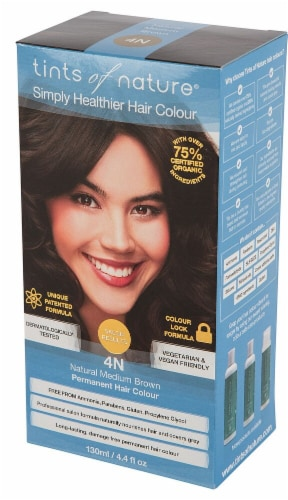 Tints of Nature  Permanent Hair Colour 4N Natural Medium Brown Perspective: front