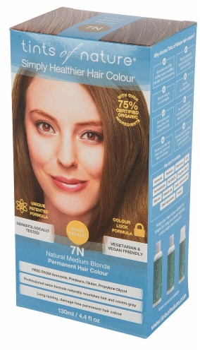 Tints of Nature  Permanent Hair Colour 7N Natural Medium Blonde Perspective: front