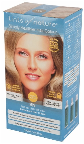 Tints of Nature  Permanent Hair Colour 8N Natural Light Blonde Perspective: front
