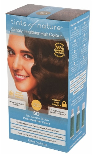 Tints of Nature Permanent Hair Colour - 5D Light Golden Brown Perspective: front