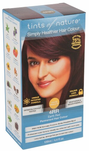 Tints of Nature Permanent Hair Colour - 4RR Earth Red Perspective: front