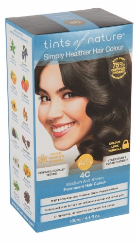 Tints of Nature  Permanent Hair Colour 4C Medium Ash Brown Perspective: front