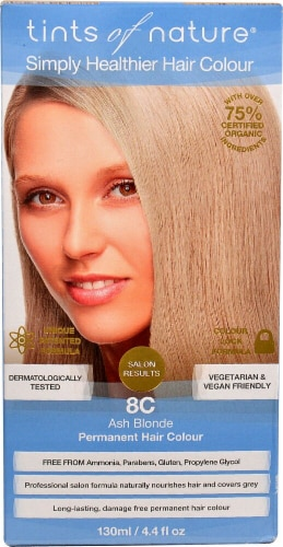 Tints of Nature  Permanent Hair Colour Ash Blonde 8C Perspective: front