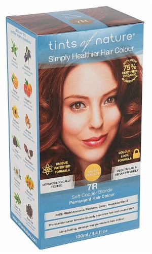Tints of Nature  Permanent Hair Colour Soft Copper Blonde 7R Perspective: front