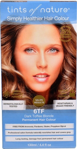 Tints of Nature  Permanent Hair Colour Dark Toffee Blonde 6TF Perspective: front