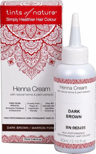 Tints of Nature  Henna Cream Hair Color Dark Brown Perspective: front
