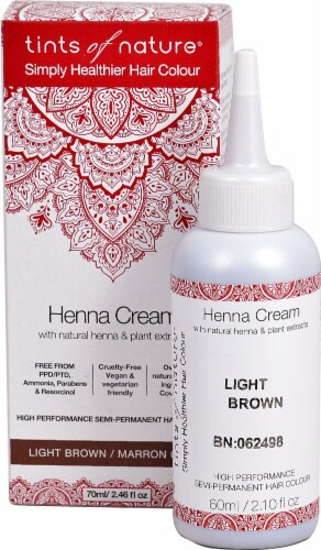 Tints of Nature  Henna Cream Hair Color Light Brown Perspective: front