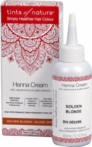 Tints of Nature  Henna Cream Hair Color Golden Blonde Perspective: front