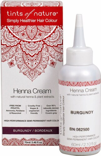 Tints of Nature  Henna Cream Hair Color Burgundy Perspective: front