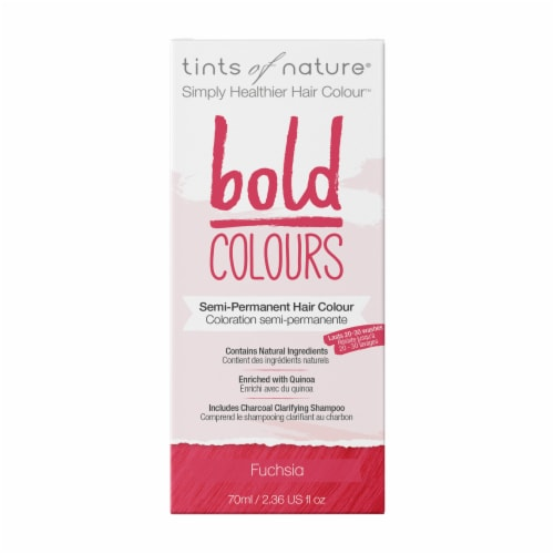 Tints of Nature Bold Colours Fuchsia Semi-Permanent Hair Color Perspective: front