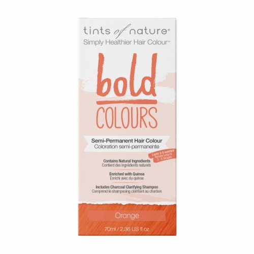 Tints of Nature Bold Colours Orange Semi-Permanent Hair Color Perspective: front