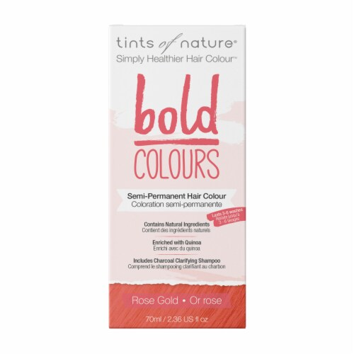 Tints of Nature Bold Colours Rose Gold Semi-Permanent Hair Color Perspective: front